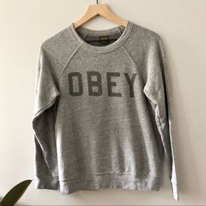 Obey Crew Neck Sweatshirt Size S